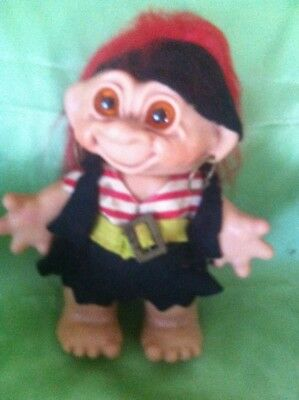 TROLL VINTAGE FEMALE PIRATE 1960's DAM BANK DOLL LARGE TOY VERY RARE COLLECTABLE