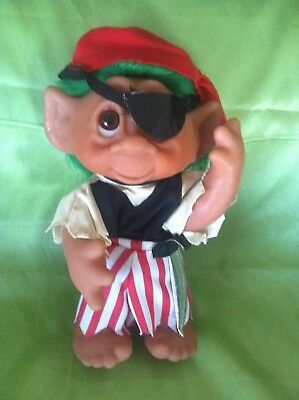 Troll Dam  Norfin Pirate Doll Large Vintage Toy Very Collectable
