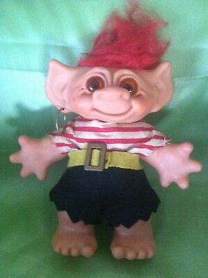 TROLL VINTAGE MALE PIRATE 1960's DAM BANK DOLL LARGE TOY VERY RARE COLLECTABLE