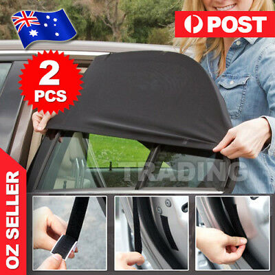 2x Universal Sun Shades socks Rear Side Seat Car Window Baby Kids Protection