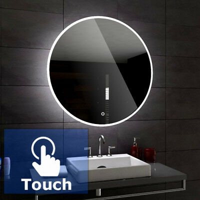 DELHI round Illuminated Led bathroom mirror  50 | 60cm diameter + TOUCH SWITCH
