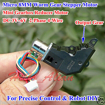 Worm Gear Reducer Gearbox Stepper Motor DC3~6V 2-Phase 4-Wire For Digital Camera