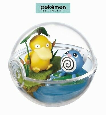 RE-MENT Pokemon Terrarium Collection 2 Poke Ball Case Figure Psyduck & Poliwag