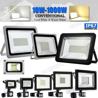 20/30/50/100/200/300/500W LED Security Light Floodlight with PIR Motion Sensor