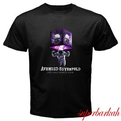 New Avenged Sevenfold The Stage World Tour logo Men's Black T-Shirt Size S-3XL