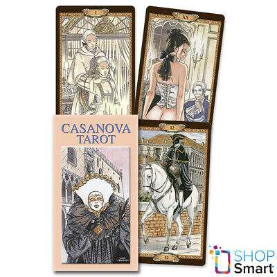 Tarot Of Casanova Deck Cards Esoteric Fortune Telling Lo Scarabeo New