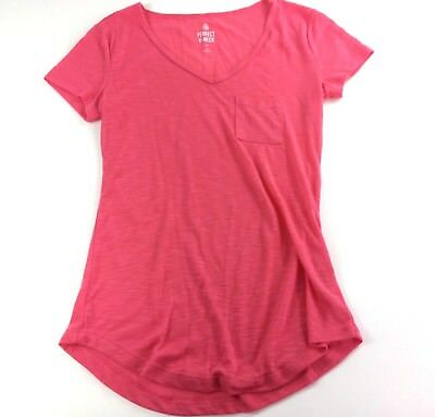 d476b214 PERFECT V NECK Tee by So Kohl's Women's Pink Basic Tee T-Shirt Sz XS ...