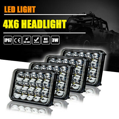 2 Pair LED Headlights For Kenworth T800 T400 T600 W900B W900L Classic 120/132 HK