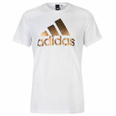 Mens adidas Foil Logo T Shirt Crew Neck Short Sleeve New