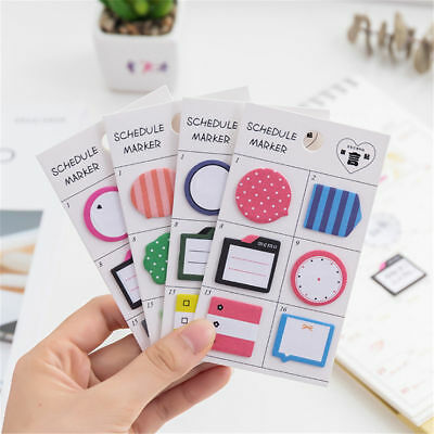 1pc Cute Schedule Sticky Notes Pad Planner Diary Notebook Stickers Stationery