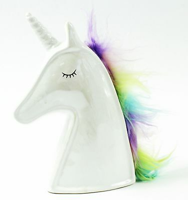 Girls Unicorn Head Fund Money Box Coin Piggy Bank For Adults Kids Gift Savings