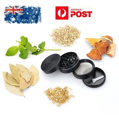"""New 2.1"""" Zinc Alloy Hand Crank Herb Spice Crusher Muller Tobacco Grinder 4-Layer"""