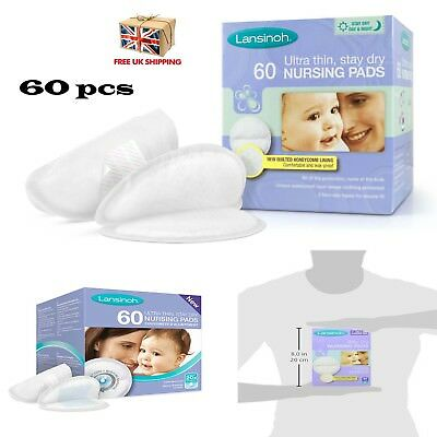 Disposable Breast Pads Nursing Pads 60 Pieces Lansinoh Absorbent Soft Thin Pads