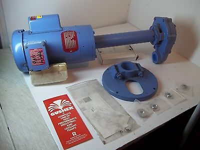 Nos Gusher Coolant Pump 115-230 V 3450 Rpm 1.5 Hp W/base & Paperwork Stored