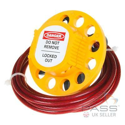 Insulated Multipurpose Hasp with 2 Mtrs -  4 mm PVC Coated Steel Cable