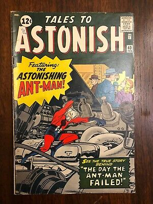 Tales to Astonish #40 (1963 Marvel) Ant Man appearance