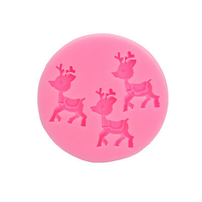 Christmas Deer Decorating Fondant Mold Silicone Cake Mould