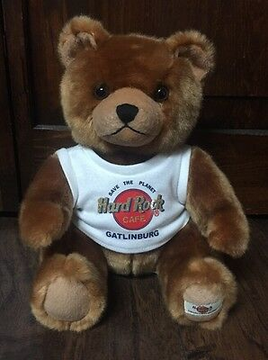 "Beautiful 2006 Herrington Gatlinburg ""Hard Rock Cafe"" 8"" Collectible Bear EUC"