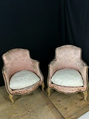 Pair of French  Antique Louis style chairs