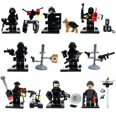 NO.45-2 CUSTOM lego swat police helmet military gun army weapon ...