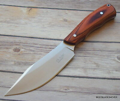 Elk Ridge 5Mm Thick Blade Wood Handle Full Tang Fixed Blade Hunting Knife