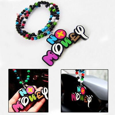 JDM Funing No Money Car Rearview Mirror Hanging Charm Dangling Pendant Ornament