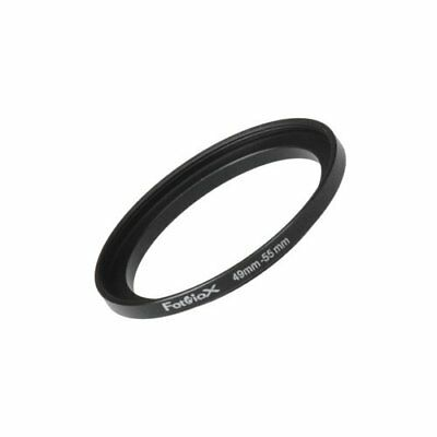 Fotodiox Metal Step Up Ring Filter Adapter Anodized Black Aluminum 49mm-55mm ...
