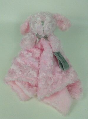 Blankets & Beyond Pink & Gray Soft Bunny Lovey Security Blanket Plush Stuffed