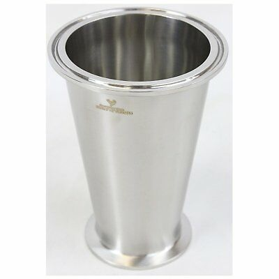 """Best Value Vacs Sanitary SS304 4"""" x 1.5"""" Conical Tri-Clamp Reducer"""