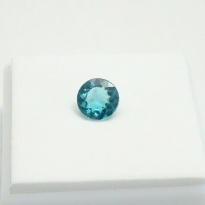 Neon Blue Apatite - 1.44ct - 7mm Round - Madagascan Apatite Loose Gemstone