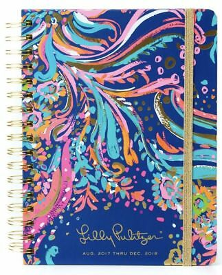 2017-2018 Lilly Pulitzer JUMBO Agenda 17 Month Daily Planner BEACH LOOT🎉