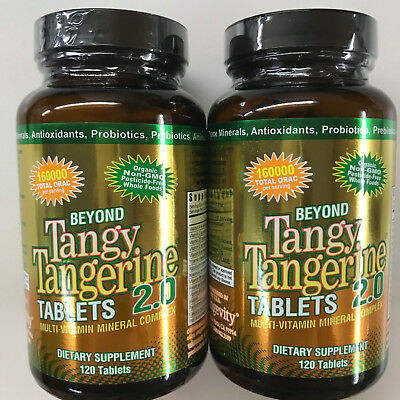 Youngevity Dr. Wallach Beyond Tangy Tangerine BTT 2.0 Tablets - 120 (Twin Pack)