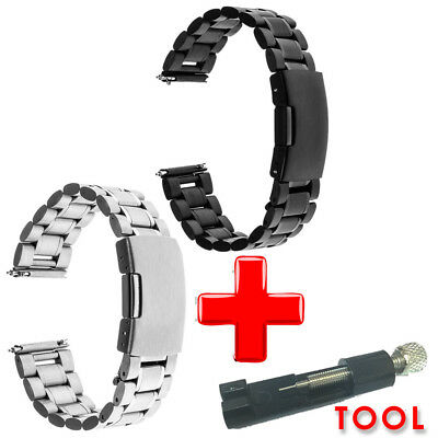 Smart Watch Replacement Band Metal Stainless Steel Strap 22mm  + Adjust Tool
