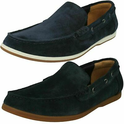 59929441665c4 MENS CLARKS MORVEN Sun Navy Suede Loafer Boat Shoes SIZE 11.5 Free S ...