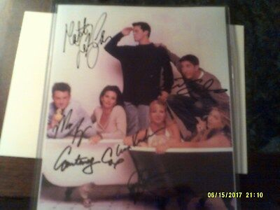 Friends TV show 8x10 photo autographed by cast RARE with COA