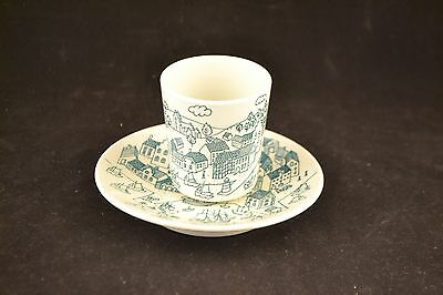 Vintage NYMOLLE ART FAIENCE Danish cup and saucer  ND2625