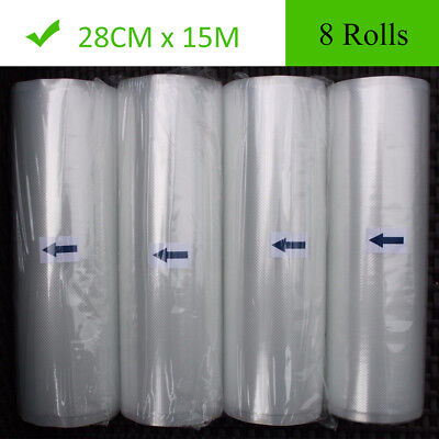 8 Roll 11X50 FoodSaver Vacuum Sealer Bags Roll 4 mil Embossed Food Saver Storage