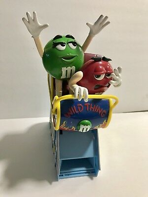 M&M Collectible Wild Thing Roller Coaster Candy Dispenser Red & Green Characters