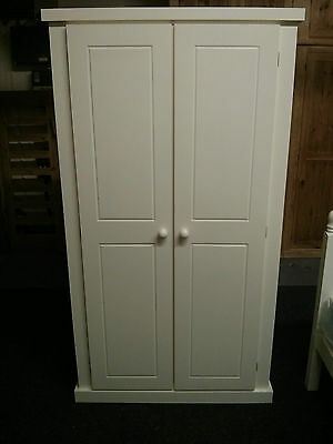 Aylesbury Ladies Double Full Hanging Wardrobe Painted Collection Cream Assembled