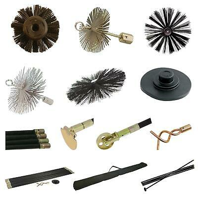 Drain Rod Rods Set Flue Chimney Drain Brush Worm Screw Plunger Drop Scraper Bag