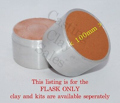 100mm Interlocking Flask - Delft Style Casting Clay Sand Rings Silver Impression