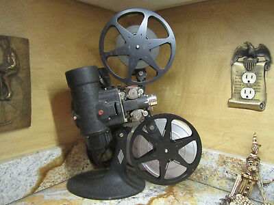 Vintage RARE early model 57 C Bell & Howell 8mm Movie Projector prop BEAUTY!