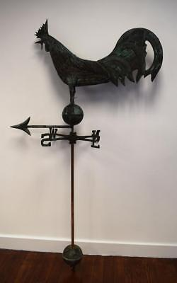 EARLY 20TH COPPER ROOSTER WEATHERVANE: Lot 122