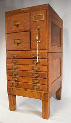 SHAW WALKER OAK FILE CABINET: Lot 160