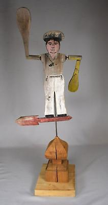 "VINTAGE 1940'S/50""S PAINTED NANTUCKET STYLE FOLK ARE SAILOR WHIRLIGIG: Lot 46"
