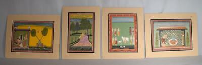 FOUR WESTERN INDIA RAJASTHAN SCHOOL MINIATURE PAINTINGS: Lot 20