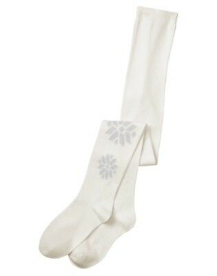Gymboree North Pole Party Silver Sparkling Snowflake Tights 10 12 14 Nwt