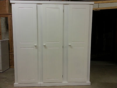 Aylesbury White Ladies Painted Triple Full Hanging Wardrobe No Flat Packs