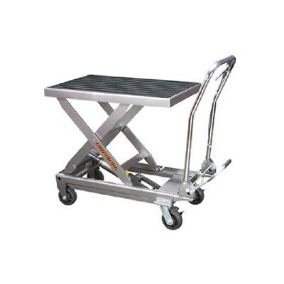 Rolling Table Cart Hydraulic Lift Cart w/Foot Pump Dolly Tools 1000lbs