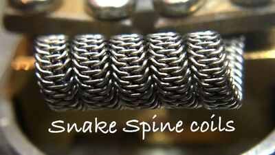 2x N80 Snake Spine Coils (5 Wrap) + Free Coils! (Alien, Staple, Nichrome 80)
